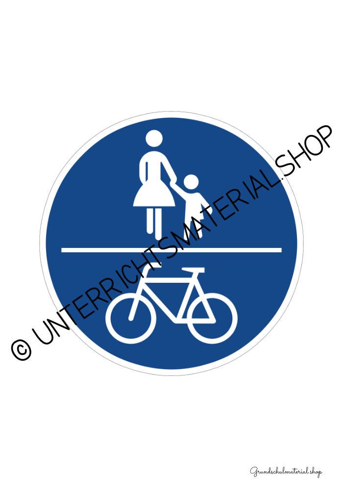 Verkehrszeichen zum Ausdrucken: Gemeinsamer Fuß- und Radweg