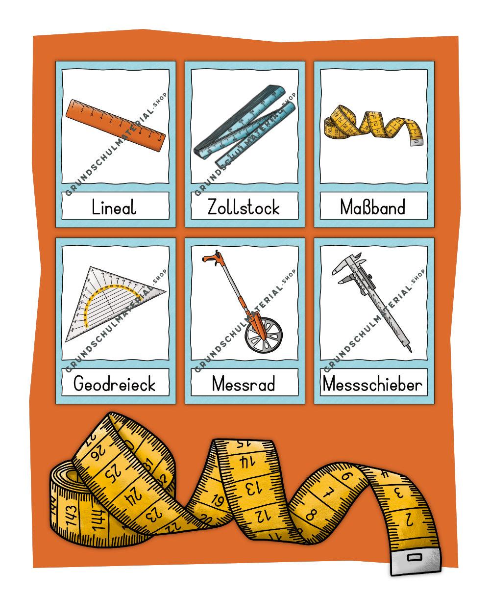 Bildkarten Messinstrumente
