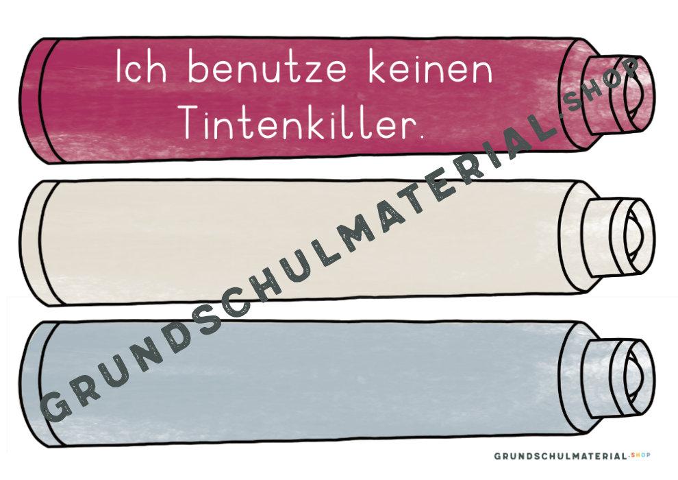 Füllerführerschein Kopiervorlagen