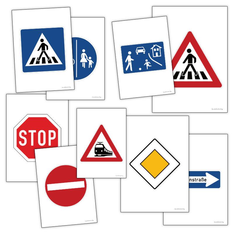 Verkehrszeichen zum Ausdrucken