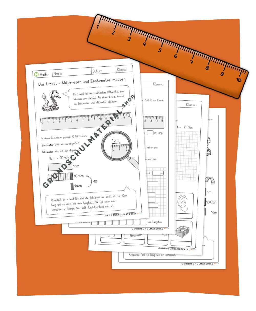 Arbeitsblätter Längen messen