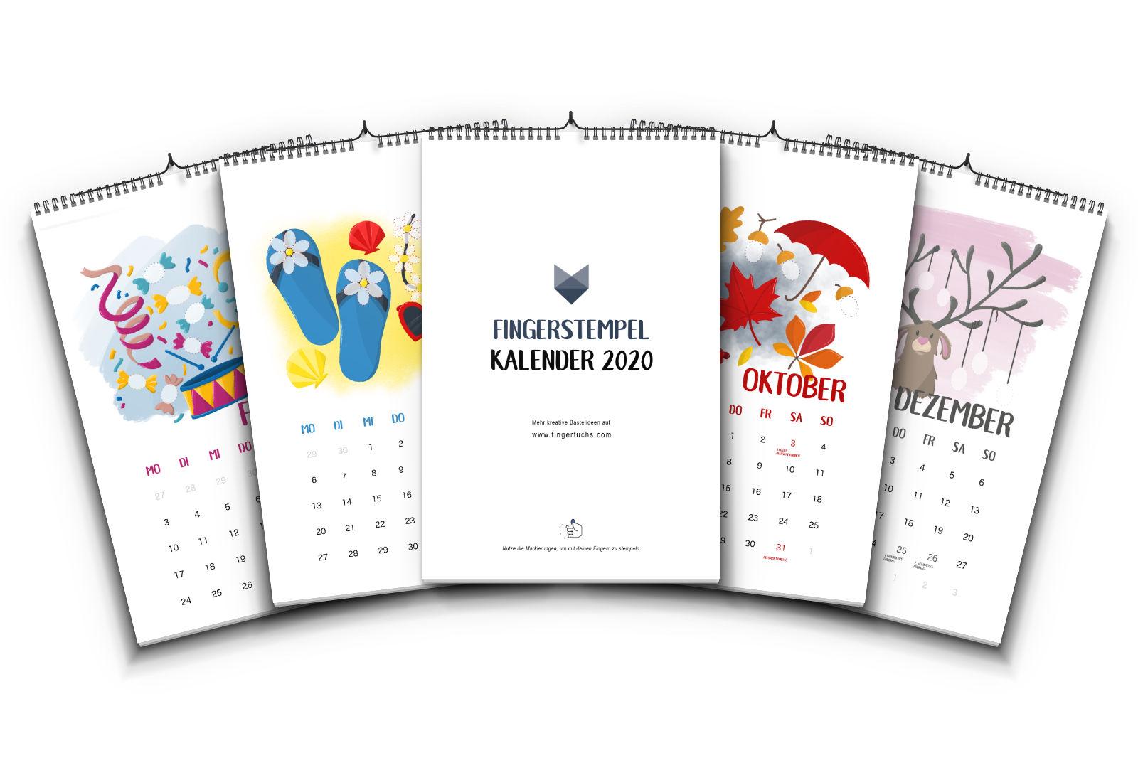 Fingerstempel-Kalender 2020