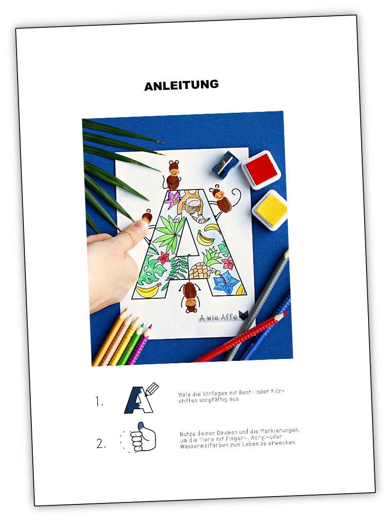 ABC Malbuch - Das Tierische ABC
