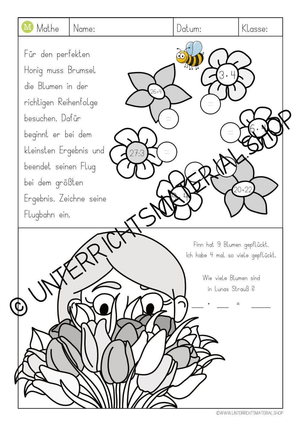 Arbeitsblatt 4-er Einmaleins - 4er Reihe