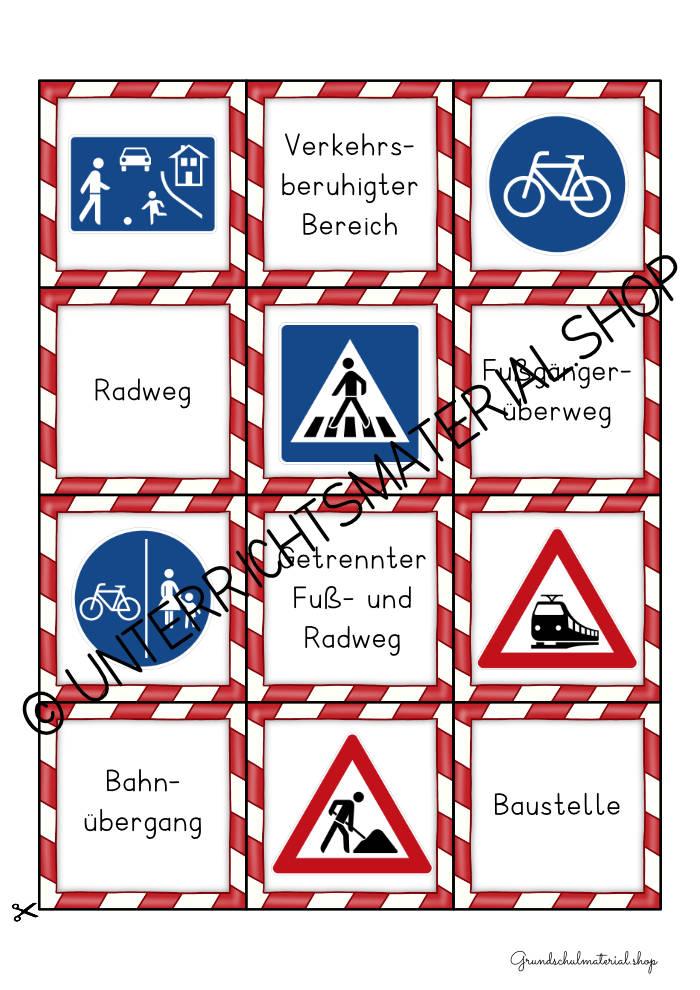 Verkehrszeichen spielerisch lernen Grundschule