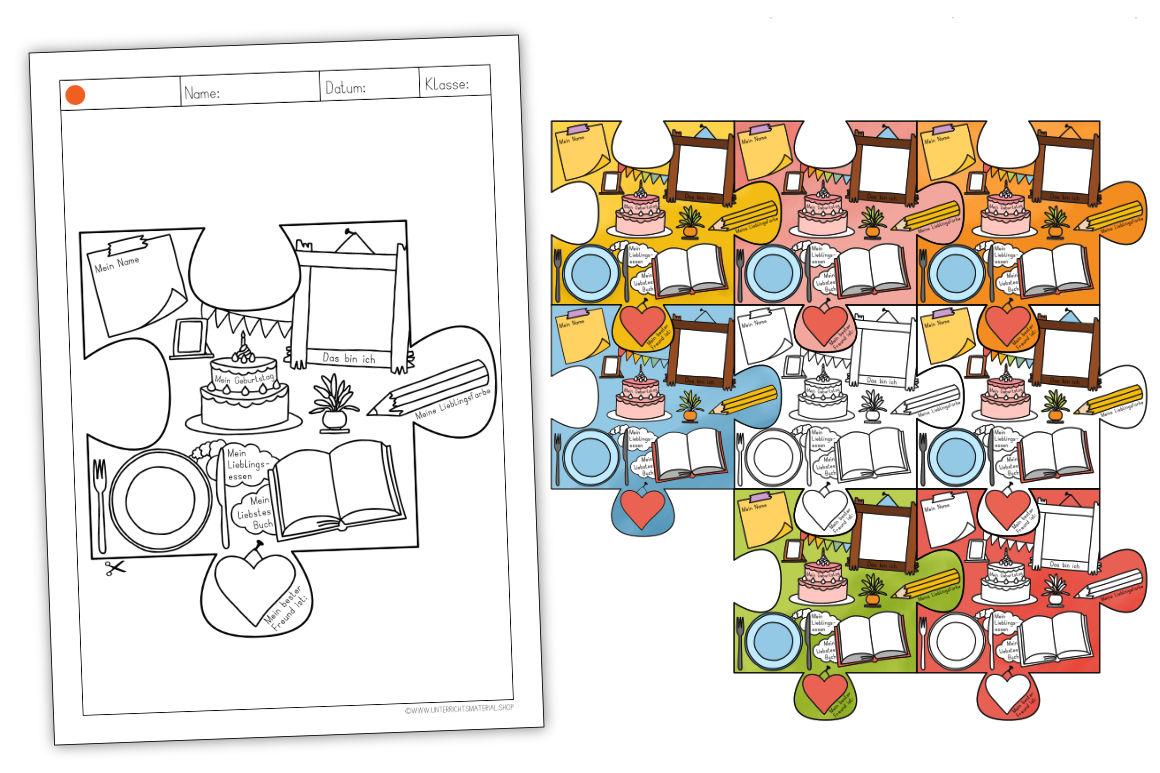 "Puzzle-Wandbild ""Unsere Klasse"""