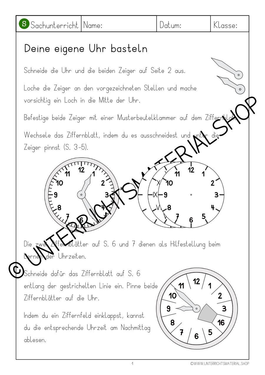 Uhrzeit Lernen Grundschule