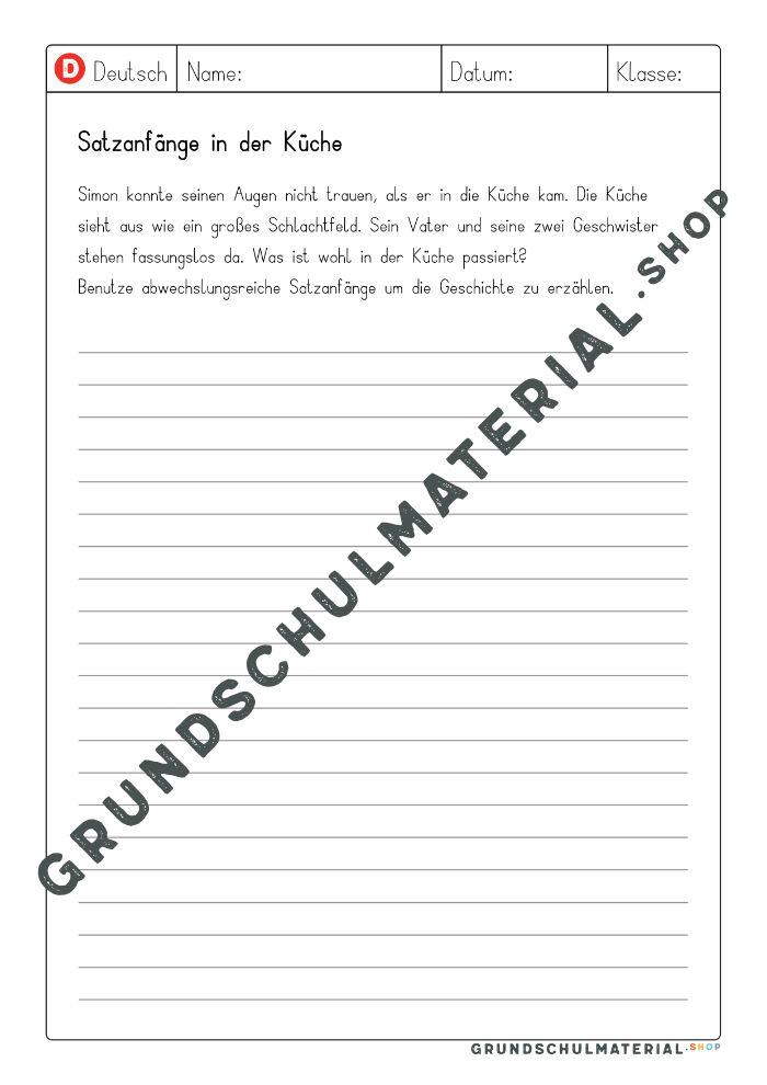 Satzanfänge für Aufsätze