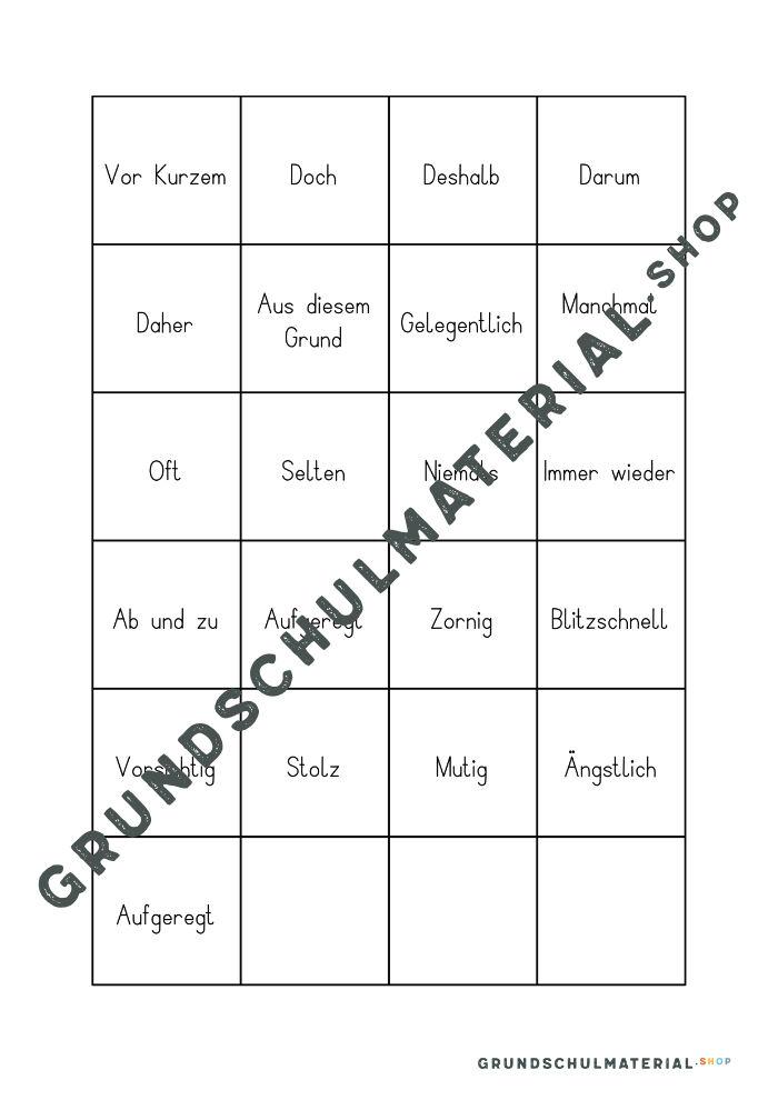 Satzanfänge Grundschule 3. Klasse