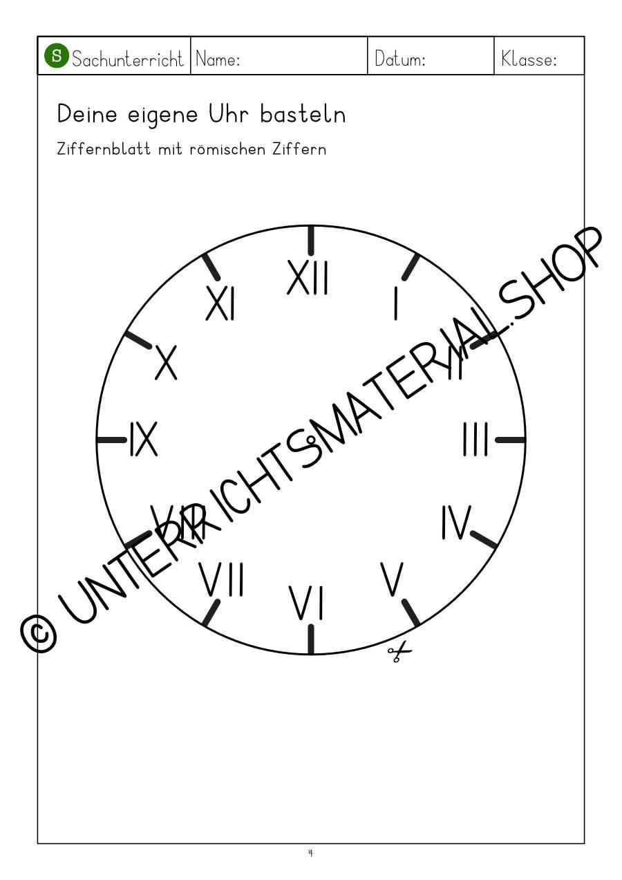 Uhr lernen Förderschule