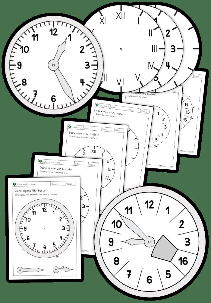 Uhrzeit Grundschule Basteln