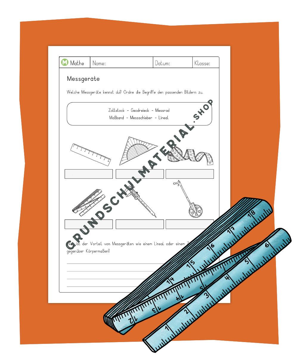 Messgeräte Länge Arbeitsblatt