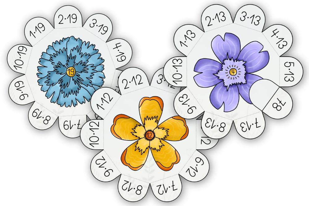 Großes Einmaleins Blumen