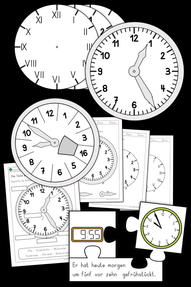 Uhr lernen Grundschule