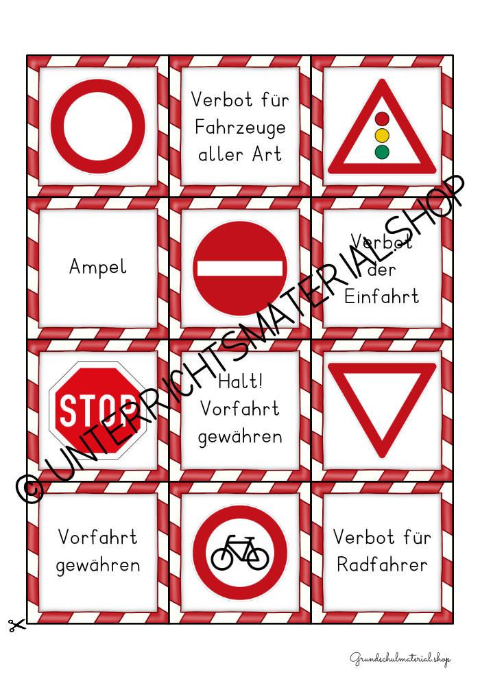 Verkehrserziehung Spiel PDF