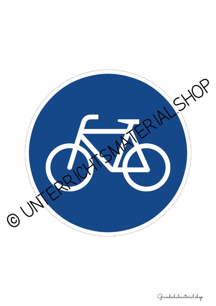Verkehrszeichen zum Ausdrucken: Radweg