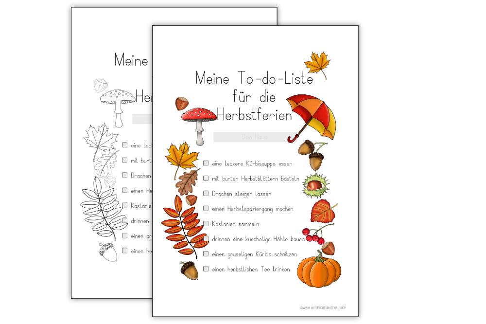 Meine To-Do-Liste für die Herbstferien