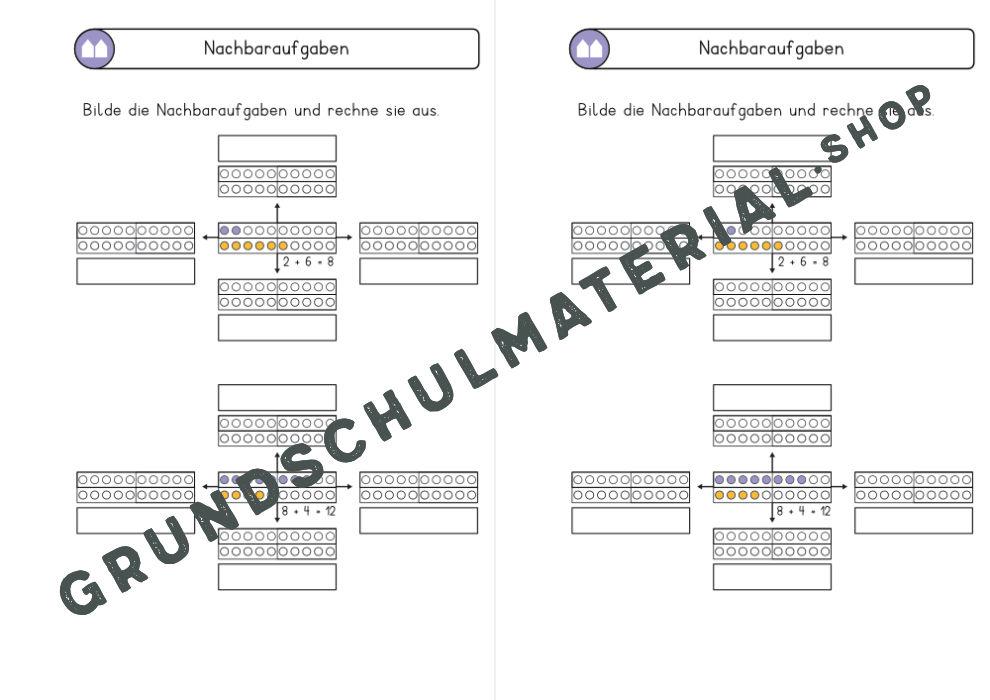 Nachbaraufgaben Klasse 1 Arbeitsblatt
