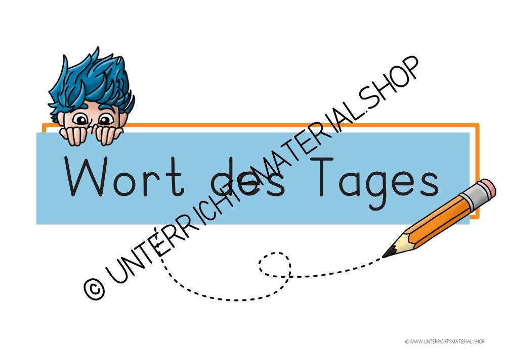 Wort des Tages Deutsch Grundschule