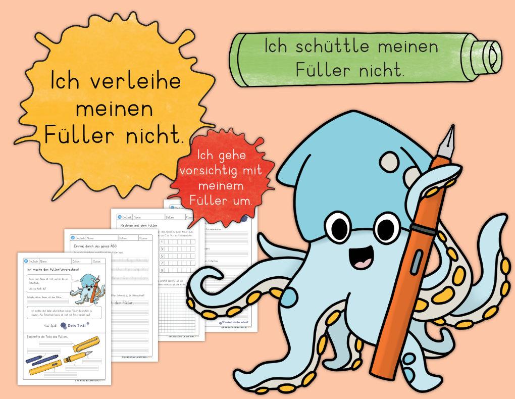 Materialpaket Füllerführerschein Grundschulmaterial