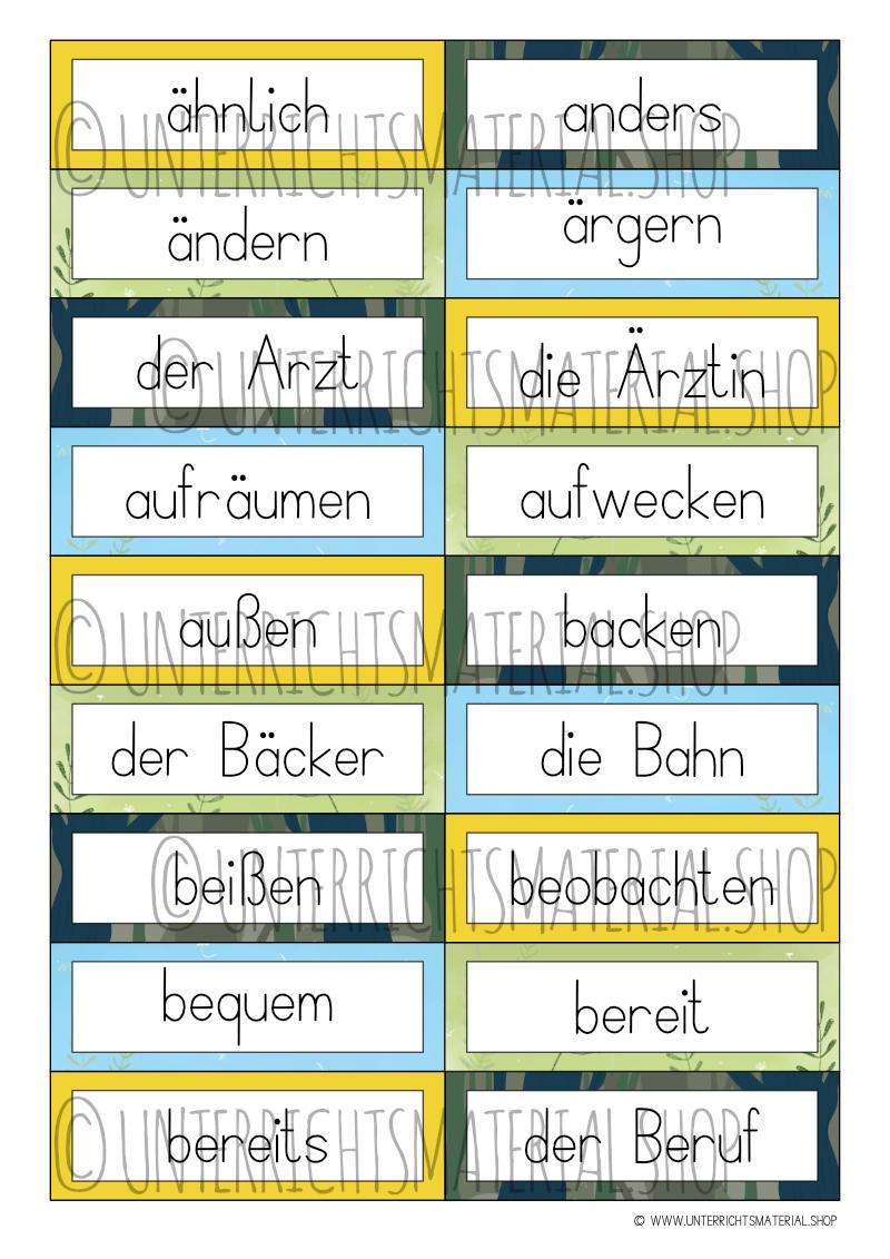 Grundwortschatz-Kartei für Klasse 3 und 4