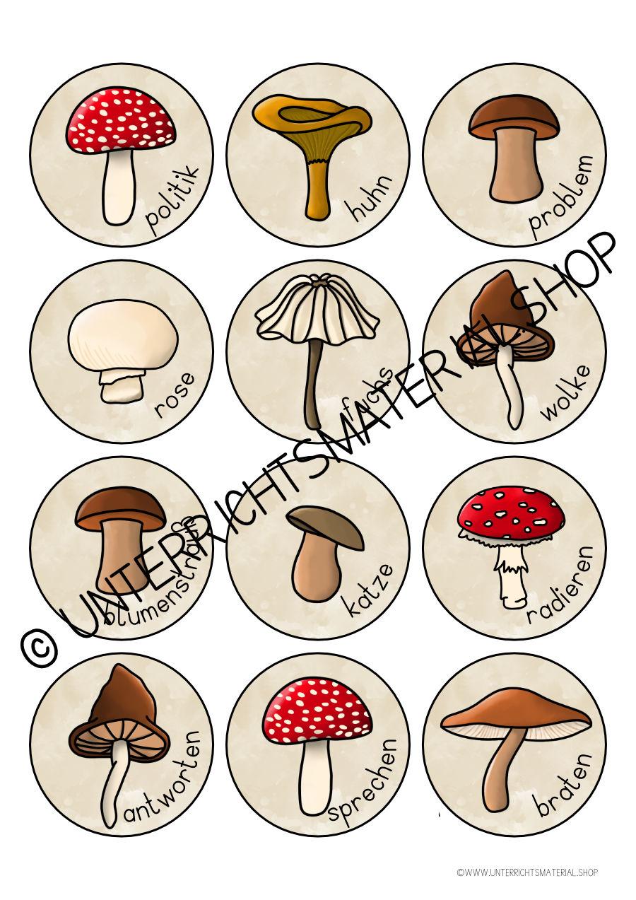 Wortarten Pilze