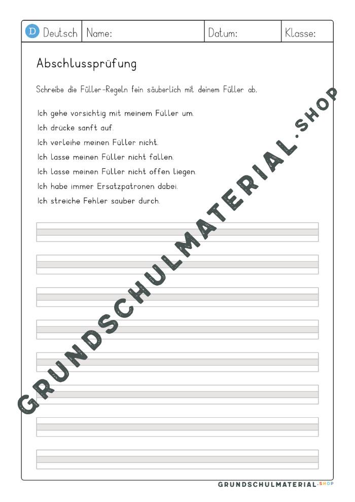 Füllerführerschein Heft