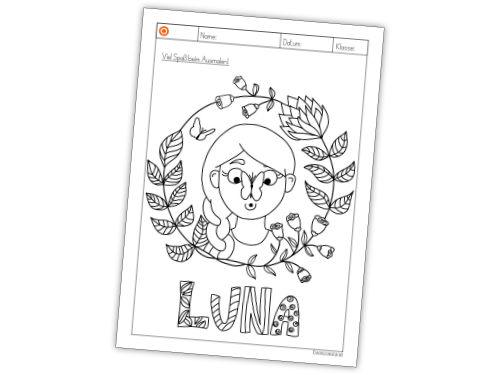 Ausmalbild Luna