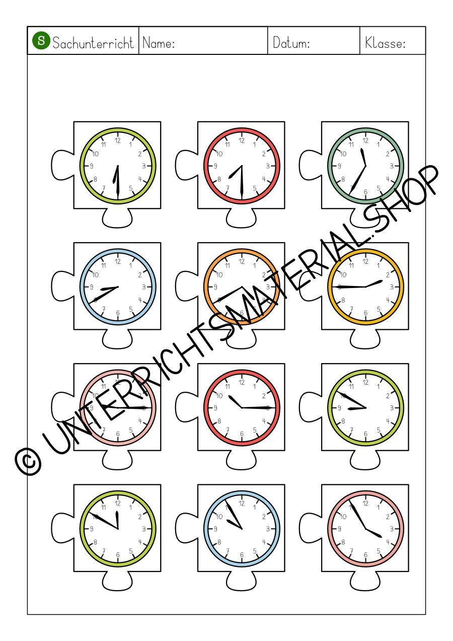 Uhrzeiten Puzzle