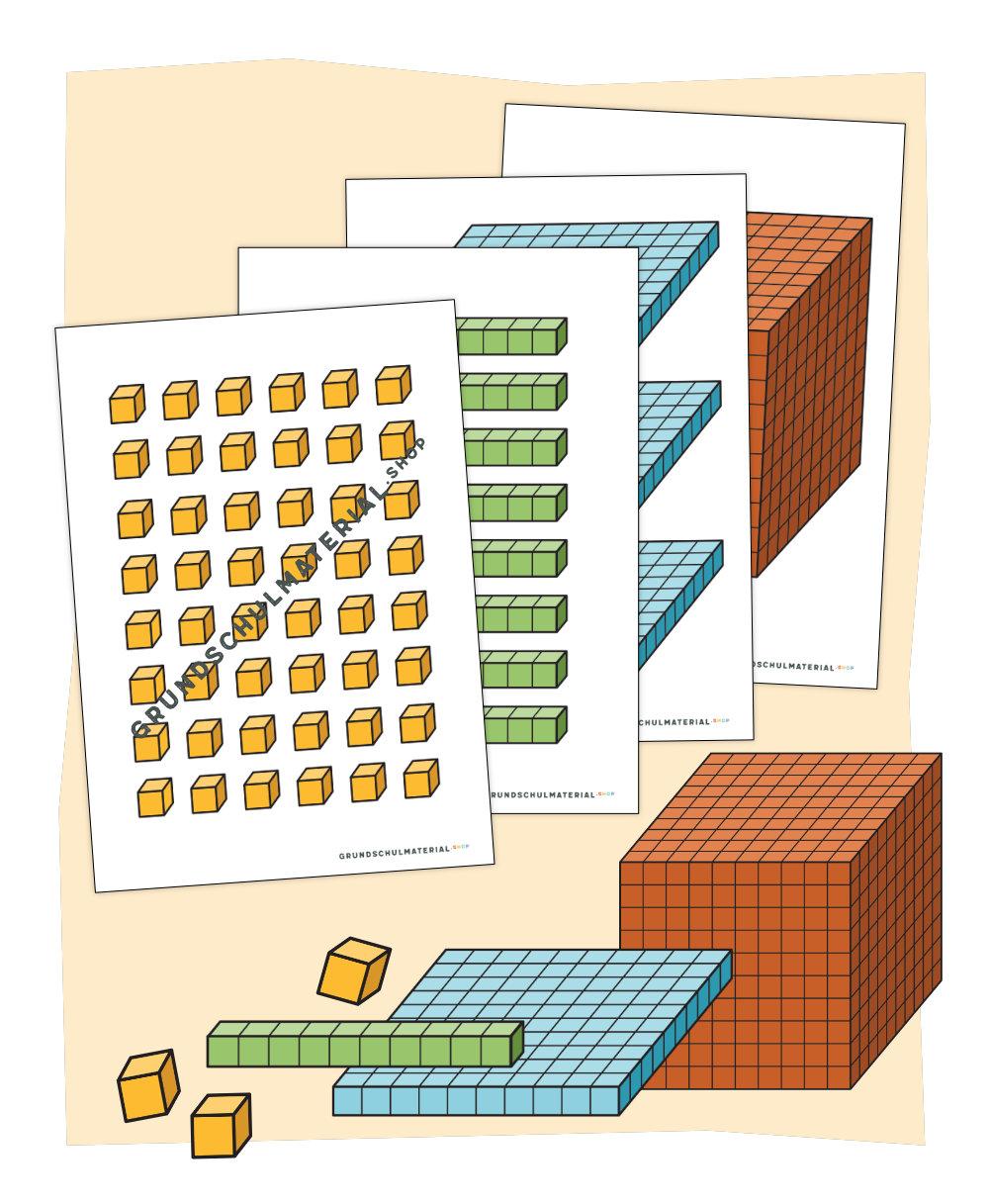"""Tafelmaterial """"Einführung in den Zahlenraum 1000"""""""