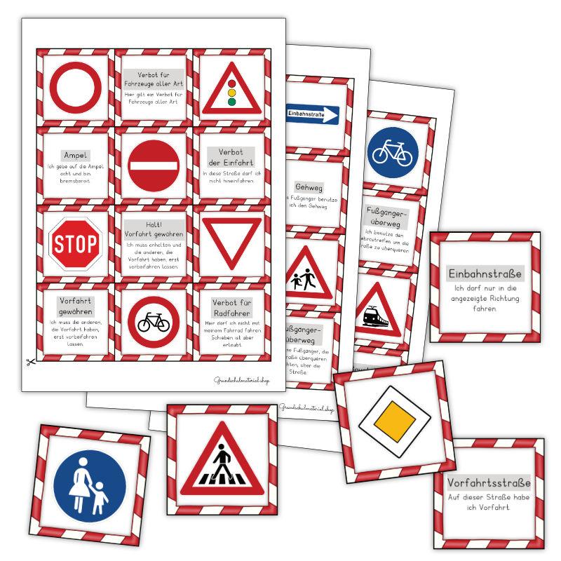Verkehrszeichen Spiel Grundschule