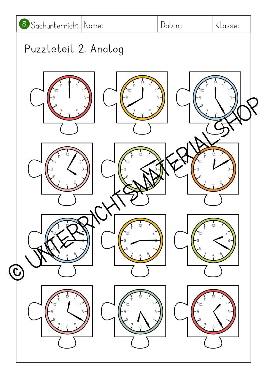 Uhr Puzzle