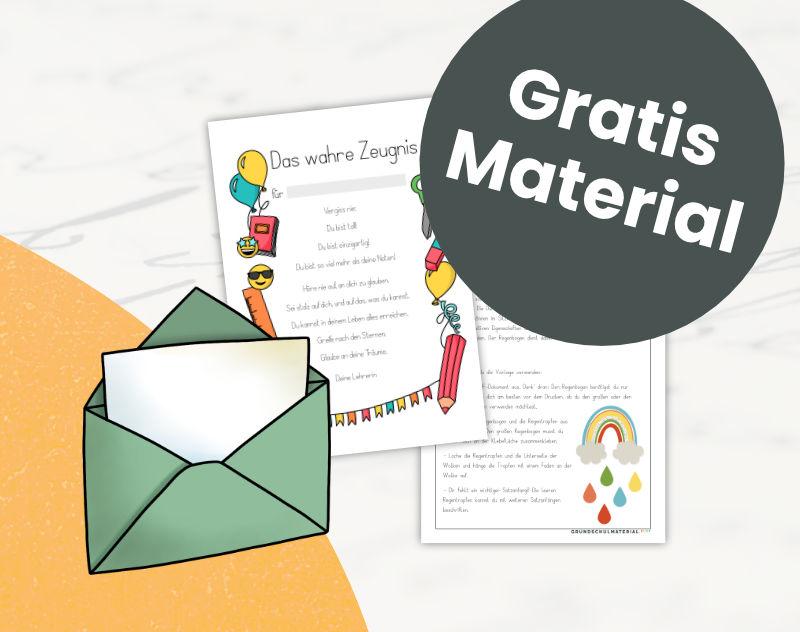 Newsletter - Erhalte gratis Grundschulmaterial
