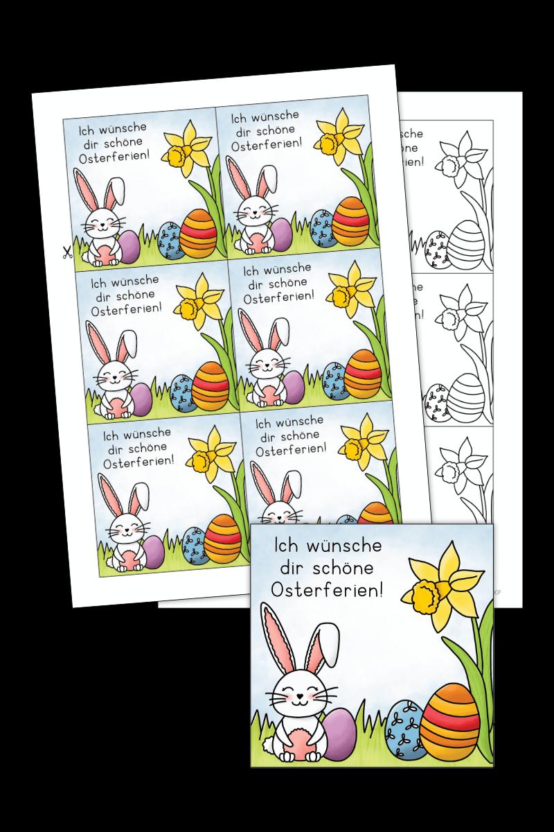 Geschenkkarte Frohe Ostern